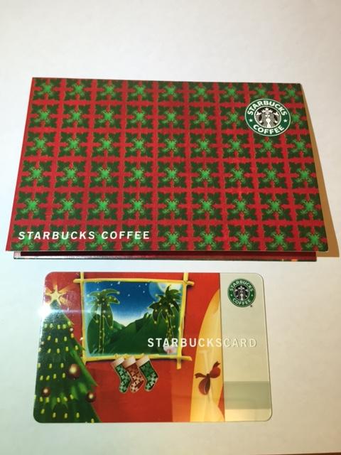 北米スターバックス★旧ロゴ2005年カード★ハワイ×クリスマス