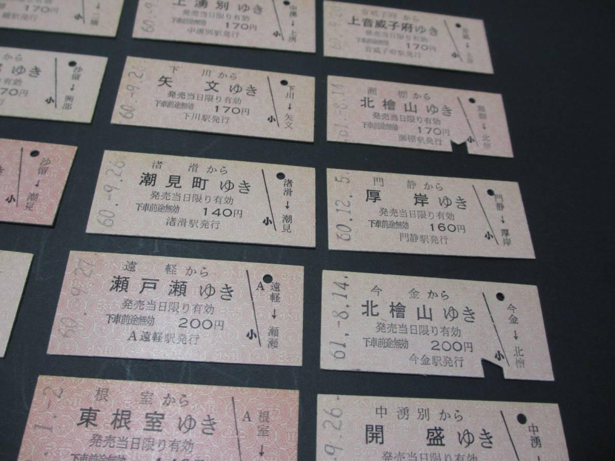 ◆切符 北海道 B型赤券着駅式 20種_画像3
