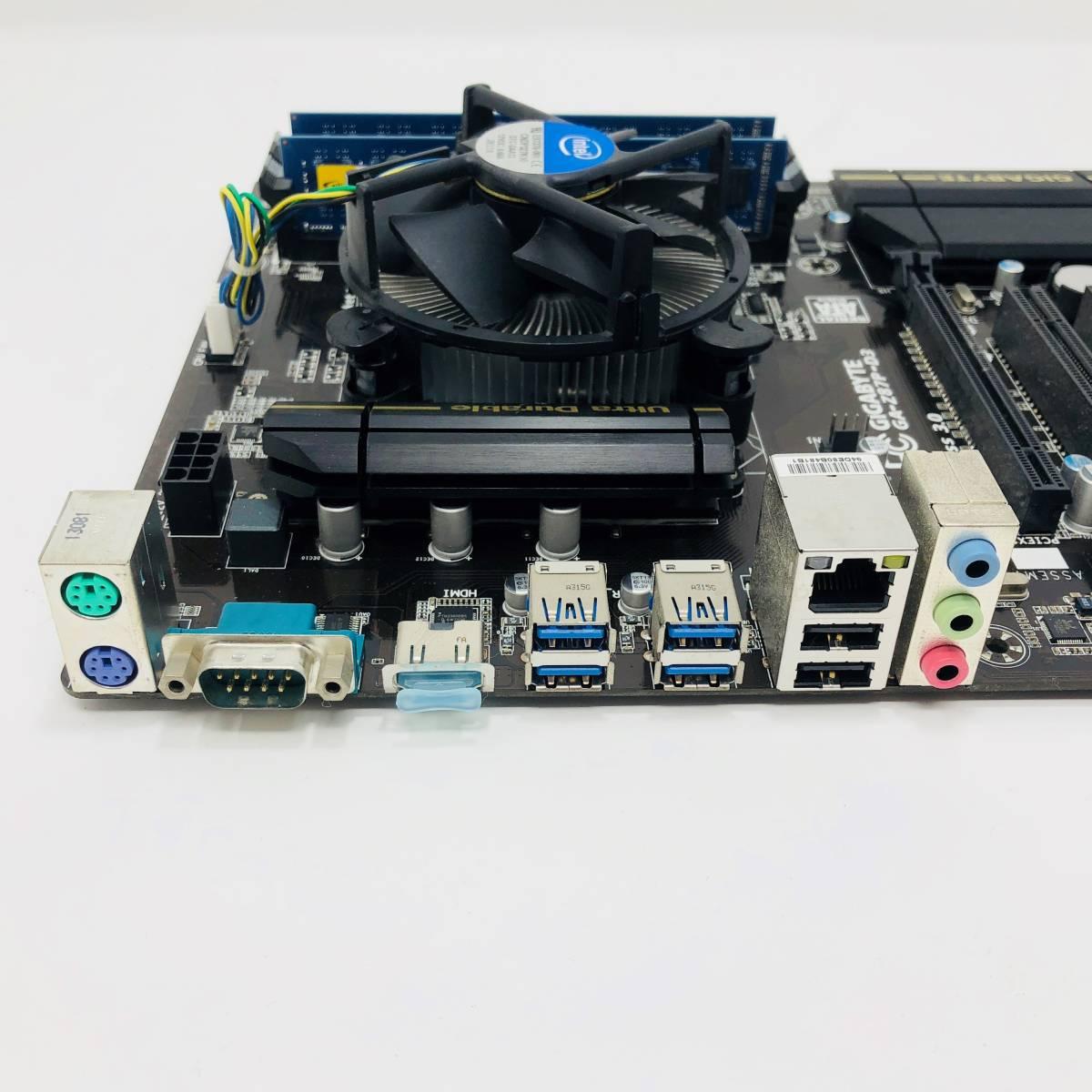 ★1円スタート!! 中古自作パーツセット BIOS起動OK 第4世代 Core i37 4770 3.4GHz DDR3 4GB ×2 GIGABYTE Z87_画像3