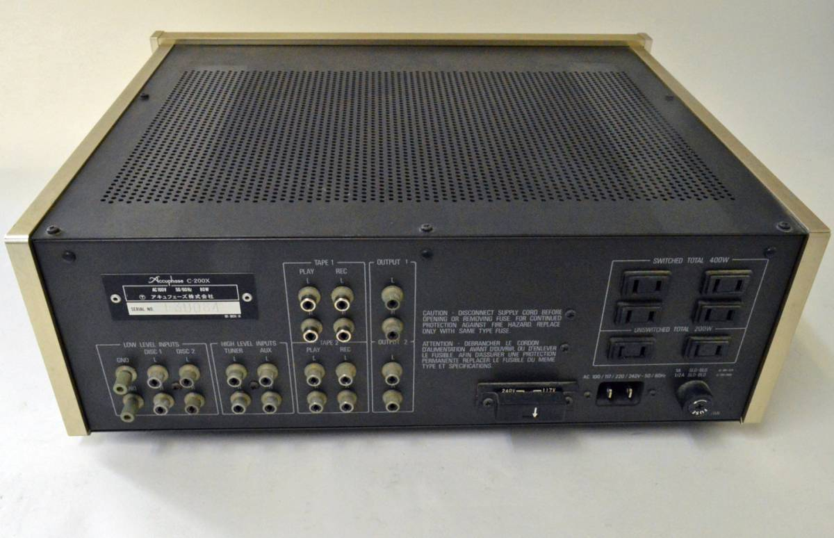YS990 ジャンク品 アキュフェーズ プリアンプ C-200X☆取説付 Accuphase コントロール AMPLIFIER☆超貴重品_画像4