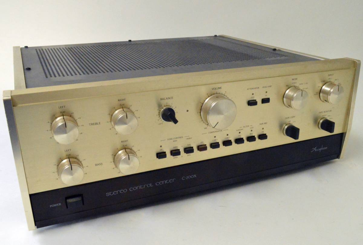 YS990 ジャンク品 アキュフェーズ プリアンプ C-200X☆取説付 Accuphase コントロール AMPLIFIER☆超貴重品_画像3