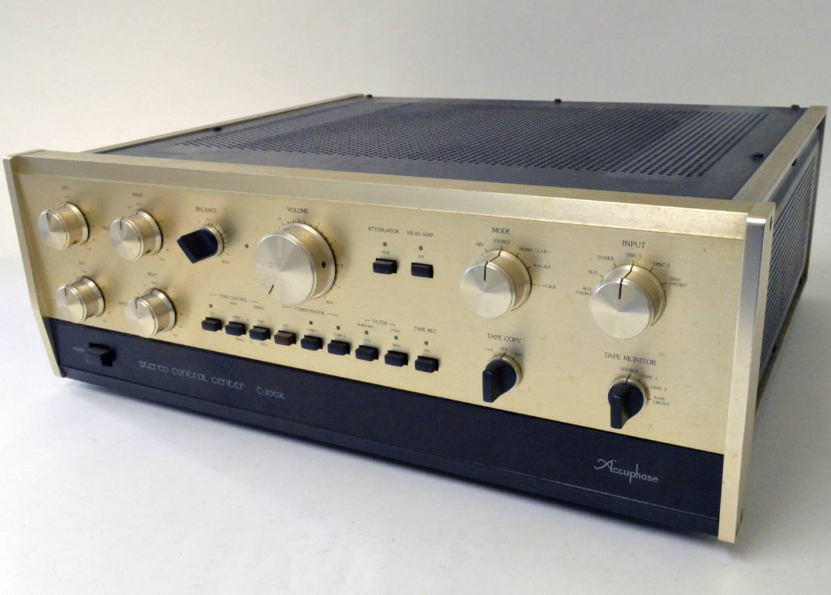 YS990 ジャンク品 アキュフェーズ プリアンプ C-200X☆取説付 Accuphase コントロール AMPLIFIER☆超貴重品_画像2