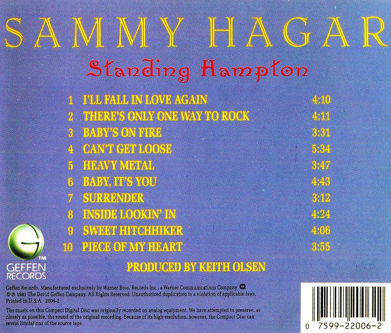 ◆◆SAMMY HAGAR◆STANDING HAMPTON 81年作 サミー・ヘイガー スタンディング・ハンプトン 即決 送料込◆◆_画像2
