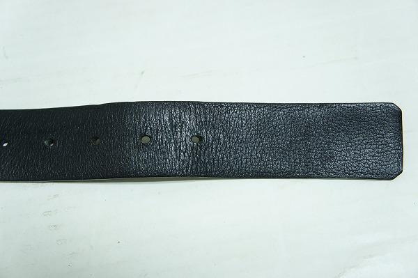 UNITED ARROWSユナイテッドアローズ スクエア レザー ベルト 金バックル サイズ85 ブラック黒218I_画像4
