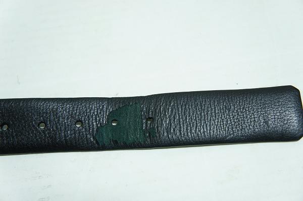 UNITED ARROWSユナイテッドアローズ スクエア レザー ベルト 金バックル サイズ85 ブラック黒218I_画像5