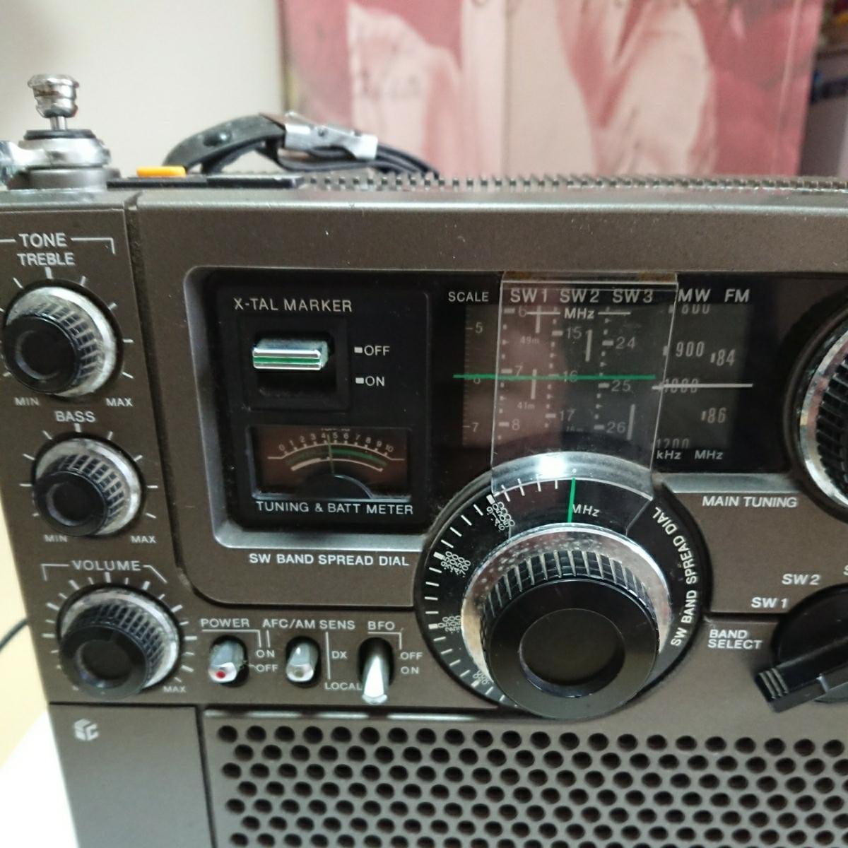 1円~ SONY ソニー スカイセンサー ICF-5900 ACアダプター付き 通電確認済_画像6