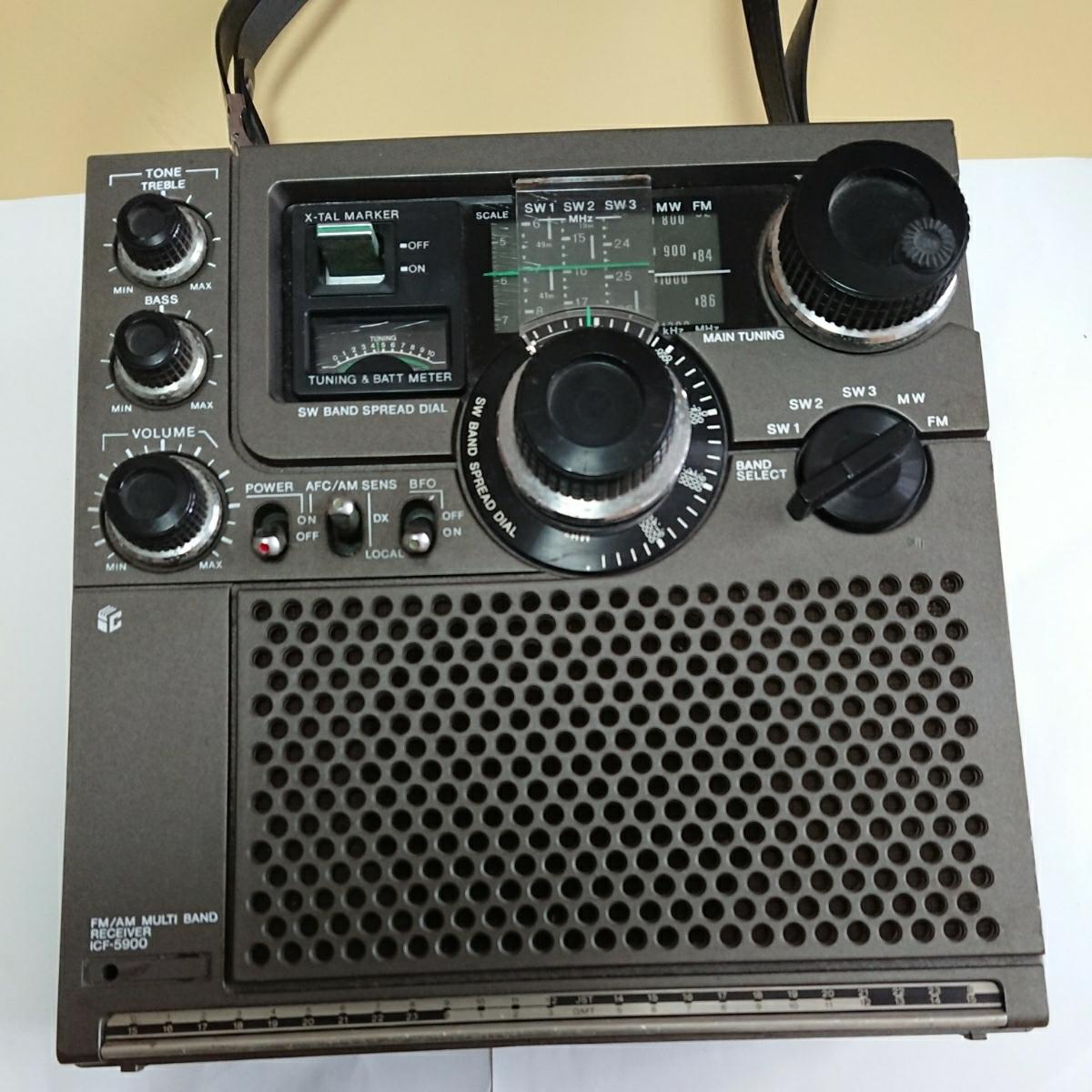 1円~ SONY ソニー スカイセンサー ICF-5900 ACアダプター付き 通電確認済_画像2
