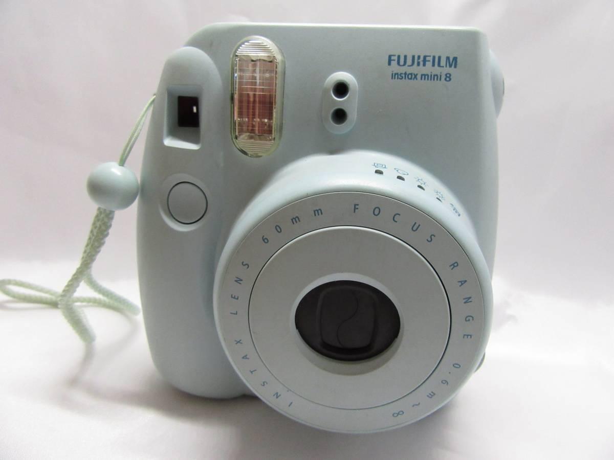 富士フイルム インスタントカメラ インスタックスミニ チェキ8 ミント 中古品 1−108A
