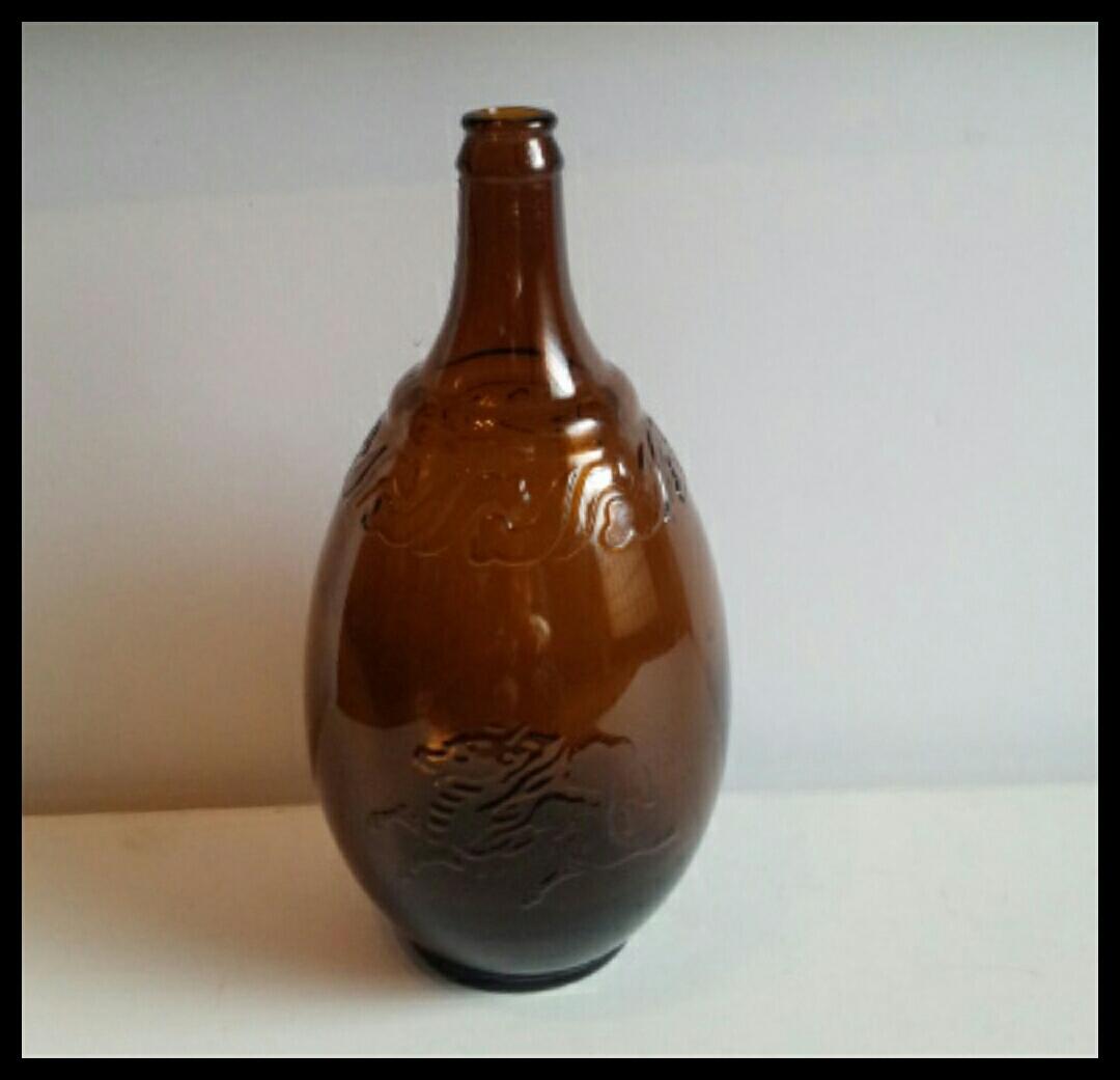 昭和レトロ 戦前キリンビール空瓶 麒麟 古いガラス瓶 ビン ビンテージ アンティーク雑貨_画像1