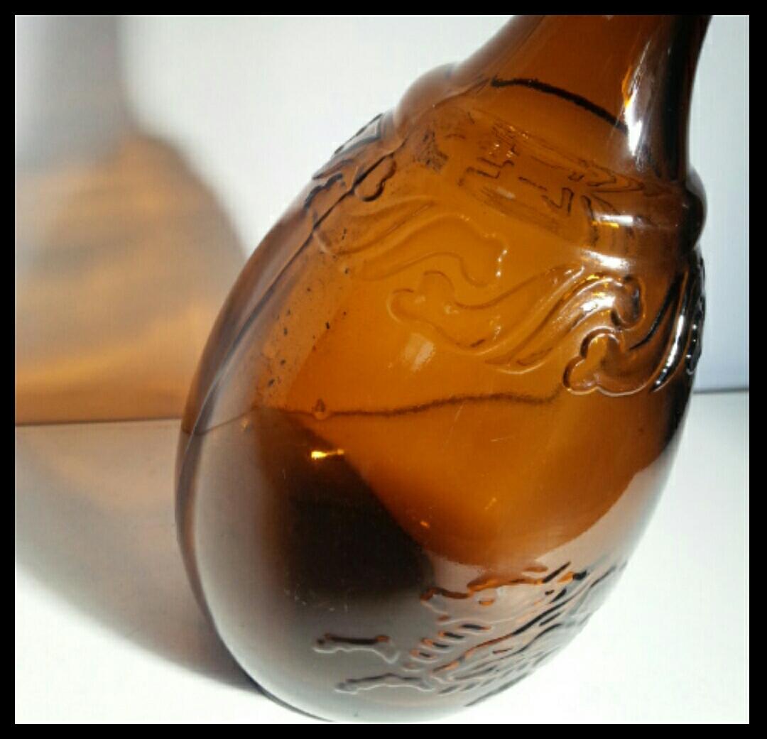 昭和レトロ 戦前キリンビール空瓶 麒麟 古いガラス瓶 ビン ビンテージ アンティーク雑貨_画像4