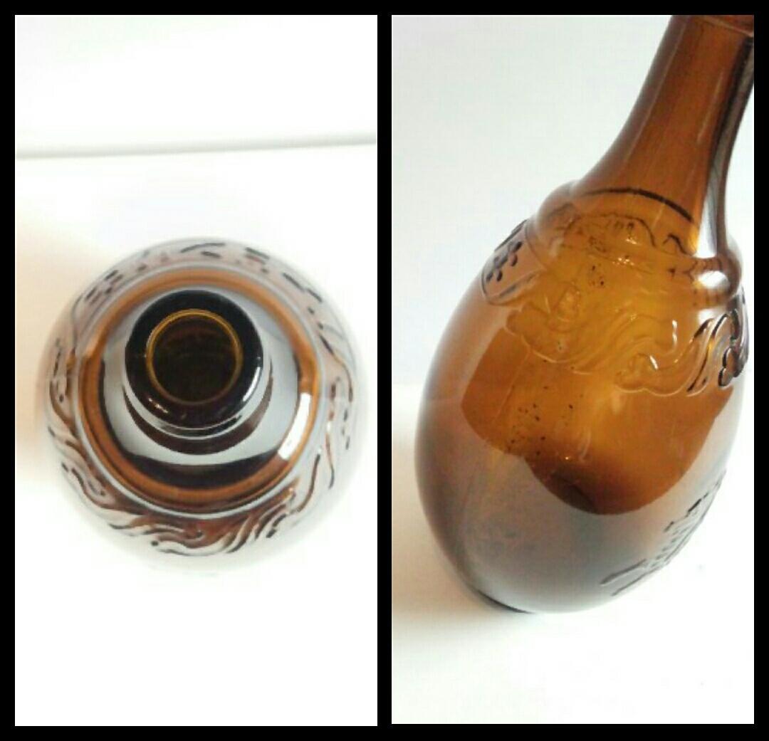 昭和レトロ 戦前キリンビール空瓶 麒麟 古いガラス瓶 ビン ビンテージ アンティーク雑貨_画像7