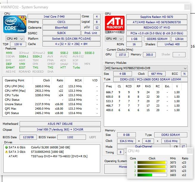 ◆ 高速/i7 940/自作UNITCOM/新品SSD 160GB/HDD 1TB/Office2016/Win10キー付 ◆_画像9