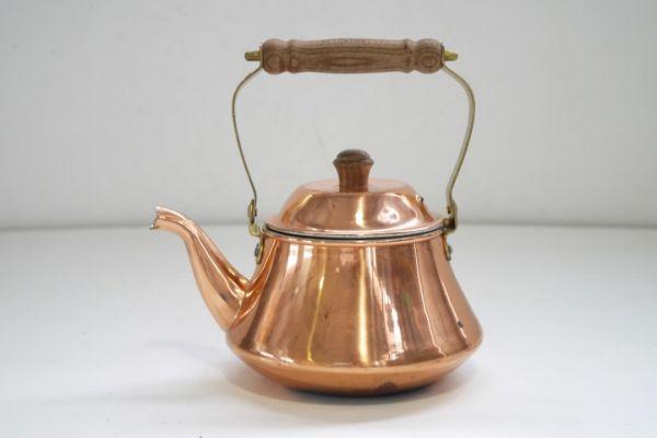 KT380 銅製ケトル 約1.3リットル 銅ヤカン ■薬缶/やかん/レトロ/ビンテージ/カフェ/ディスプレイ/湯沸