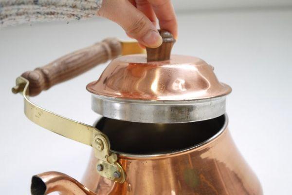 KT380 銅製ケトル 約1.3リットル 銅ヤカン ■薬缶/やかん/レトロ/ビンテージ/カフェ/ディスプレイ/湯沸_画像4