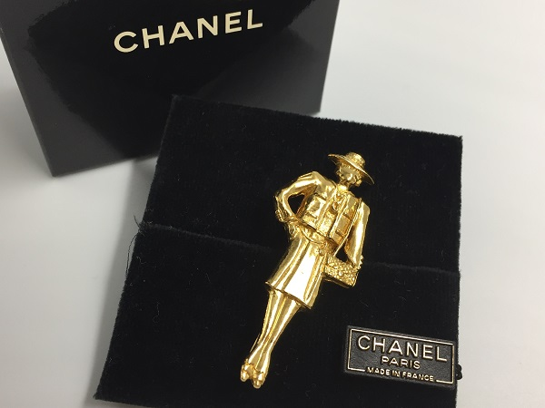 ◆美品◆希少◆ CHANEL シャネル ピンブローチ 貴婦人型 イネス マダムココ ヴィンテージ vintage フランス製 アクセサリー ゴールド