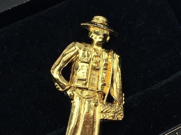 ◆美品◆希少◆ CHANEL シャネル ピンブローチ 貴婦人型 イネス マダムココ ヴィンテージ vintage フランス製 アクセサリー ゴールド_画像2