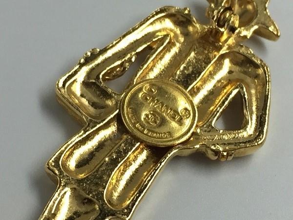 ◆美品◆希少◆ CHANEL シャネル ピンブローチ 貴婦人型 イネス マダムココ ヴィンテージ vintage フランス製 アクセサリー ゴールド_画像5