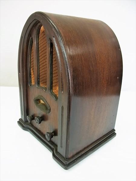 ◆戦前 ナショナル 真空管ラジオ R-42 ドーム型 交流受信機 National アンティーク ビンテージ 当時物_画像3