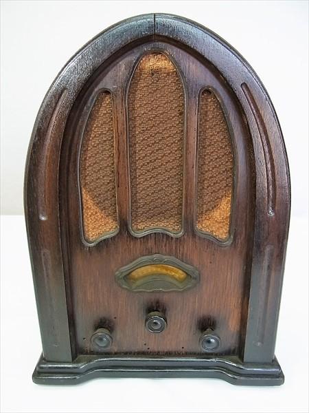 ◆戦前 ナショナル 真空管ラジオ R-42 ドーム型 交流受信機 National アンティーク ビンテージ 当時物