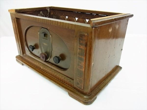 ◆ジャンク SHARP シャープ 真空管ラジオ 型番不明 部品取 アンティーク ビンテージ レトロ 木製_画像4