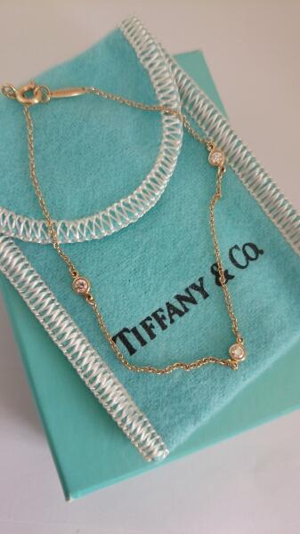 正規品☆ TIFFANY バイザヤード 3P ダイヤ ブレスレット K18 YG