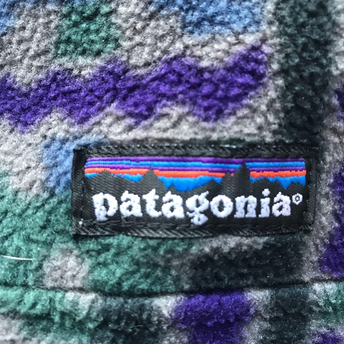 【雪無し】パタゴニア patagonia プリンテッド シンチラ スナップT 93年USA製 サイズ XL テウルチェ/グレー柄 検 レトロ ダス_画像10