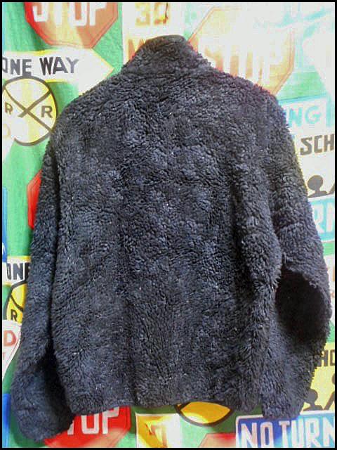 ★超希少モデル★Made in USA製アメリカ製patagoniaパタゴニアビンテージフリースジャケットレトロパイルカーディガン黒80s90s80年代90年代_画像3