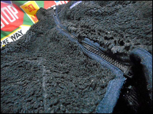 ★超希少モデル★Made in USA製アメリカ製patagoniaパタゴニアビンテージフリースジャケットレトロパイルカーディガン黒80s90s80年代90年代_画像10