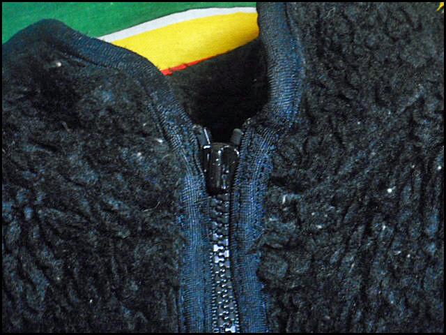 ★超希少モデル★Made in USA製アメリカ製patagoniaパタゴニアビンテージフリースジャケットレトロパイルカーディガン黒80s90s80年代90年代_画像7