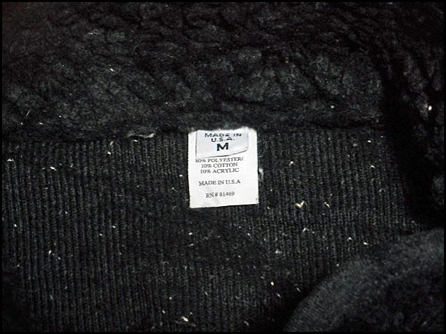 ★超希少モデル★Made in USA製アメリカ製patagoniaパタゴニアビンテージフリースジャケットレトロパイルカーディガン黒80s90s80年代90年代_画像8