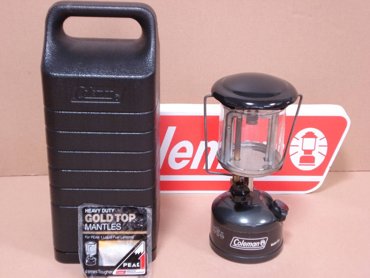 ■コールマン フェザーランタン Model 229-726J コンパクト・軽量 廃盤 使用少 テーブルランタン 90W相当 マントル1枚付き Coleman