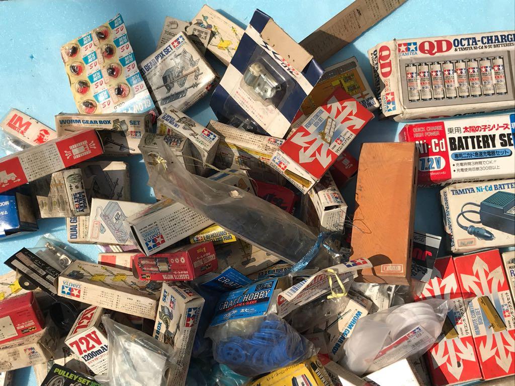 【大量】タミヤ ギヤーセット・充電器・リモコンボックス等 店舗デッドストック品 部品等168点まとめて!!ジャンク_画像3