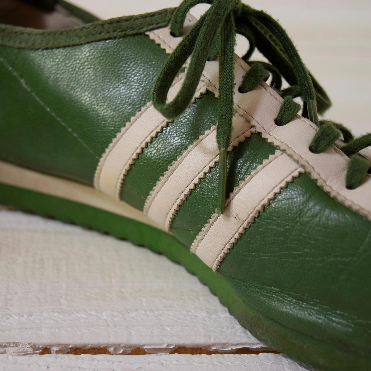 adidas アディダス ITALIA イタリア 26 スニーカー 都市 地名 2003年 復刻 緑 限定カラー_画像6