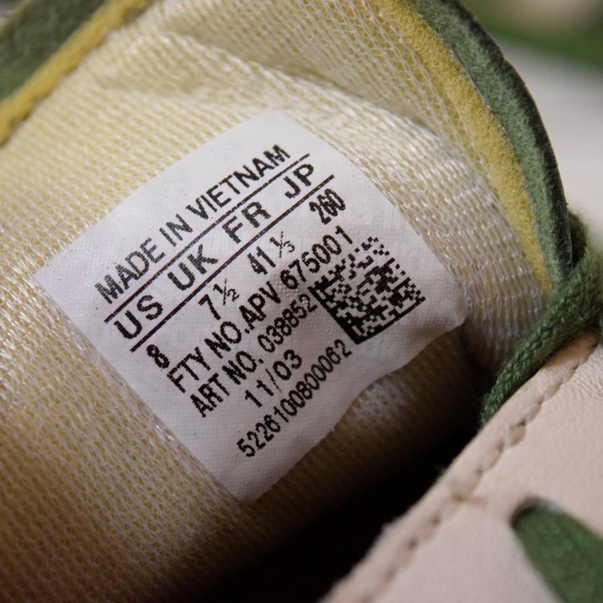adidas アディダス ITALIA イタリア 26 スニーカー 都市 地名 2003年 復刻 緑 限定カラー_画像5