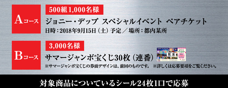 アサヒスーパードライ ジョニーデップ スペシャルイベント 応募シール360枚_画像2
