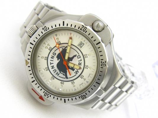 送料無料 ハンティング・ワールド スポータバウト メンズ コンパスウォッチ 腕時計 稼動品 中古 ♂46㍉ 郵パック発送の場合は送料無料