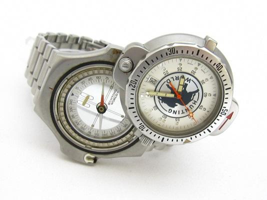 送料無料 ハンティング・ワールド スポータバウト メンズ コンパスウォッチ 腕時計 稼動品 中古 ♂46㍉ 郵パック発送の場合は送料無料_画像2