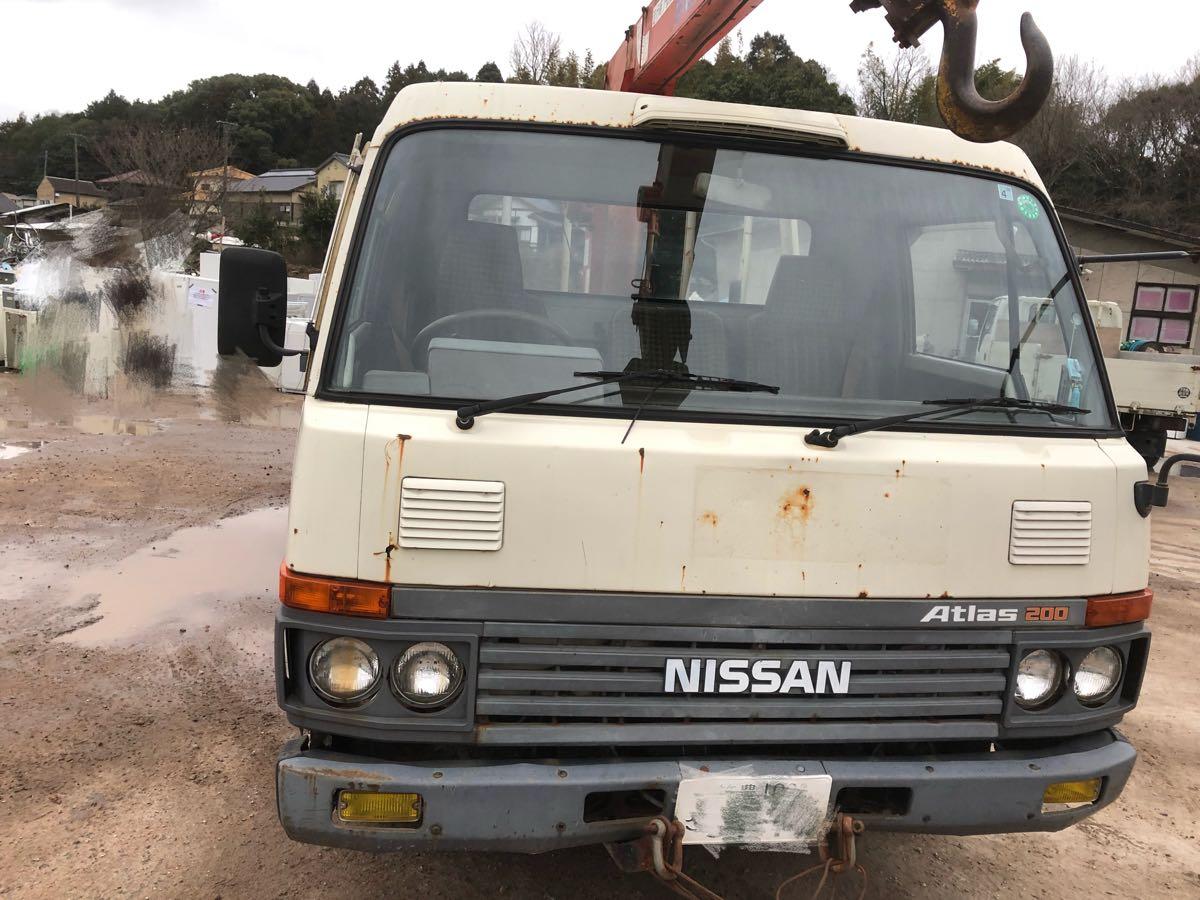 ニッサン 2t ユニック キャブオーバ 軽油車