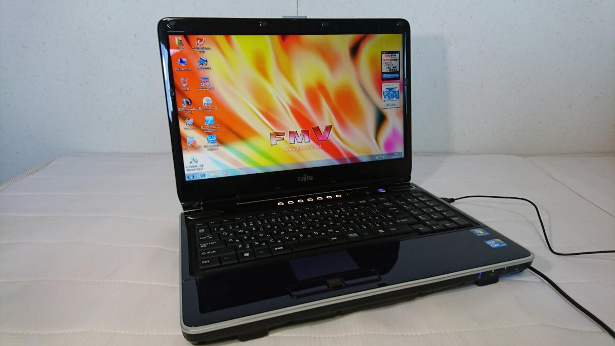 ★高速 Corei5m430 2.27GHz Windows7 富士通 NF/G70 メモリ4GB/HDD500GB 無線LAN内蔵 Office2007 word excel Blu-ray再生 送料無料