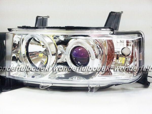 トヨタ (クローム//US仕様) ! 送料無料! bB CCFLイカリング付ブループロジェクターヘッドライト