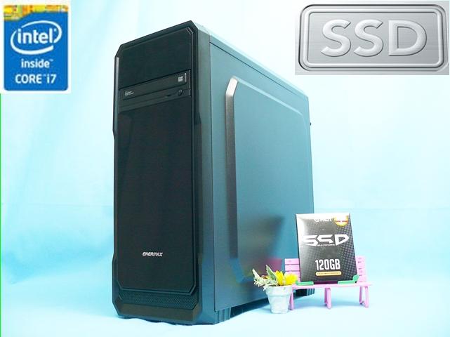 【極上ゲーミング自作PC】GTX970搭載PUBG可! Core i7-4770 3.4-3.9GHz×8/メモリー8G/新品SSD 120G+HDD3TB/Windows10 Pro☆売切り
