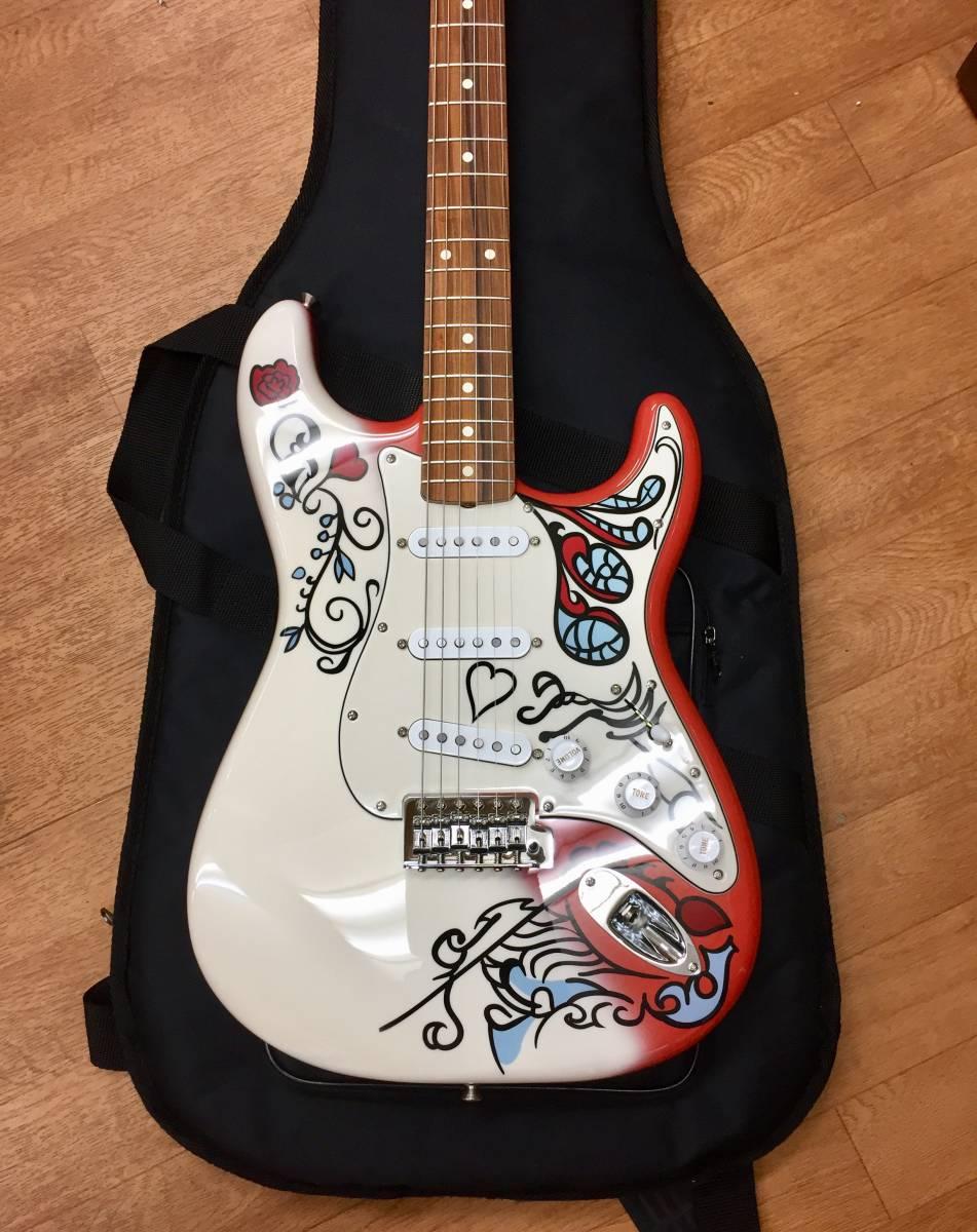 送料無料 美品 限定生産 Fender Jimi Hendrix Monterey Stratocaster モンタレー50周年ジミヘン・モデル JOHN MAYER