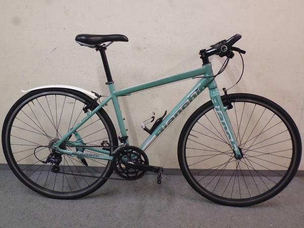 ● 1円スタート 売切り!! ● Bianchi ROMA 2 アルミ クロスバイク SHIMANO SORA 2×9S size46 チェレステカラー ビアンキ ローマ2 11.5kg