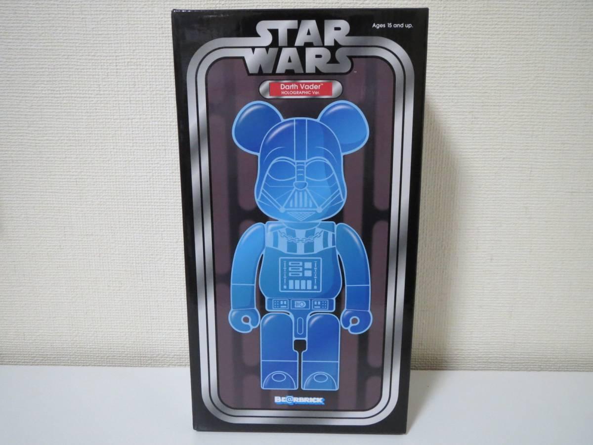 【新品未開封】 BE@RBRICK STAR WARS Darth Vader HOLOGRAPHIC Ver. 400% スターウォーズ ベアブリック ダースベイダー_画像1
