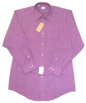 綿100% エンドオンエンド セミワイドシャツ Lav 17(43)即決_エンドオンエンド織