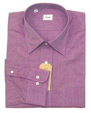 綿100% エンドオンエンド セミワイドシャツ Lav 17(43)即決_ビジネス・ドレス・カジュアル