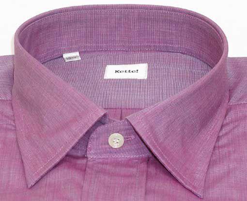 綿100% エンドオンエンド セミワイドシャツ Lav 17(43)即決_光沢のある お洒落なお色です