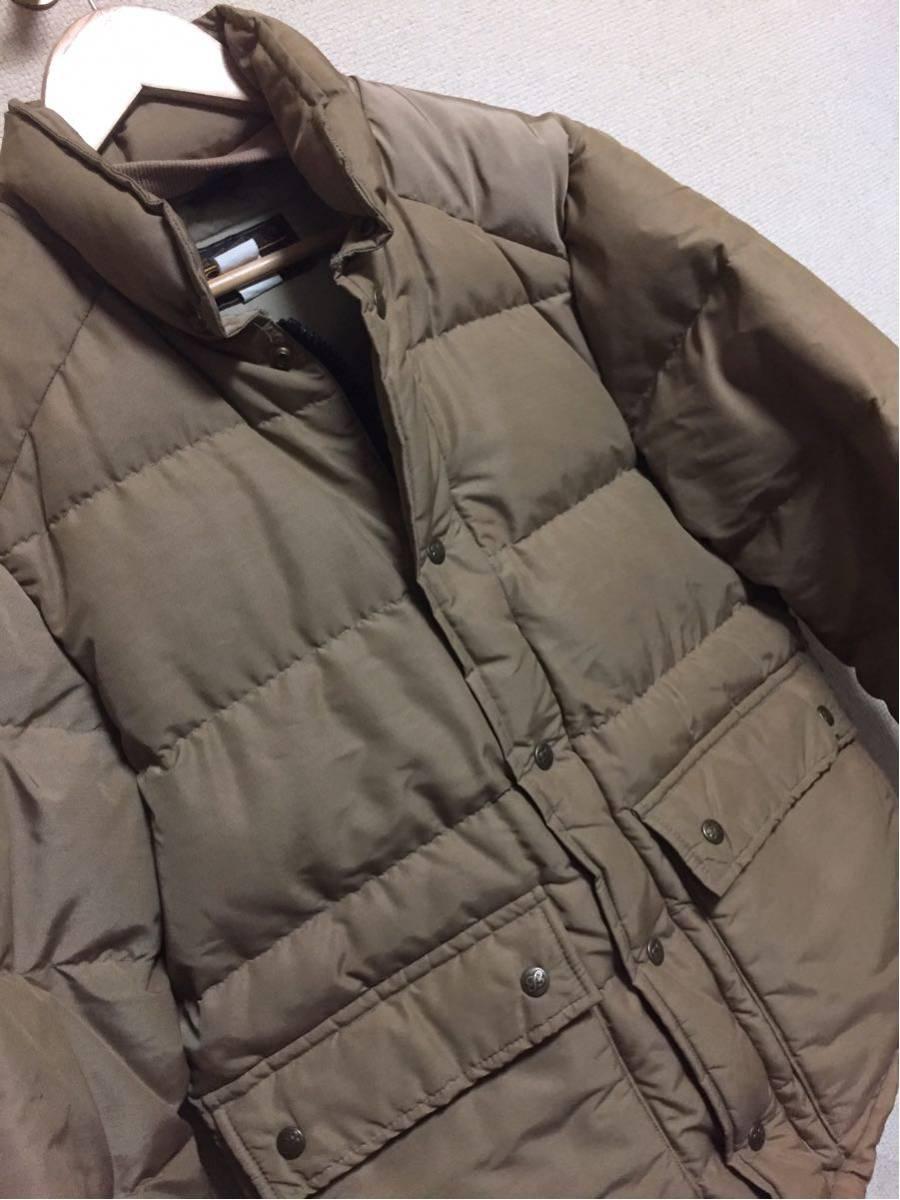 ◆ Eddie Bauer ◆ エディバウアー 70s ビンテージ 希少 良好 黒タグ プレミアムクオリティ 高級中綿羽毛 ダウンジャケット S-M/茶タグ_画像3