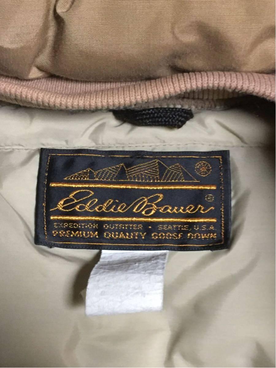 ◆ Eddie Bauer ◆ エディバウアー 70s ビンテージ 希少 良好 黒タグ プレミアムクオリティ 高級中綿羽毛 ダウンジャケット S-M/茶タグ_画像9