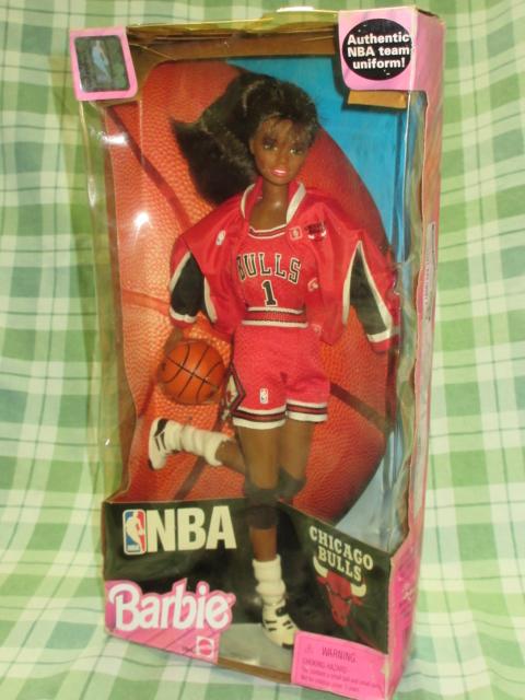 希少NBA バービー 1998 シカゴブルズ Barbie バスケットボール アフリカン アメリカン ドール レトロ ヴィンテージ 人形 フギュア 着せ替え_Barbie×NBA モデル:アフリカンアメリカン